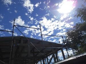 台風の後の晴れた空
